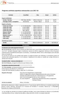 Programa activitats INS Ernest Lluch 17-18